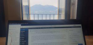 Mein Schreibtisch am Lago Maggiore